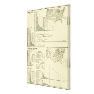 Madera de construcción e instrumentos agrícolas impresión en tela
