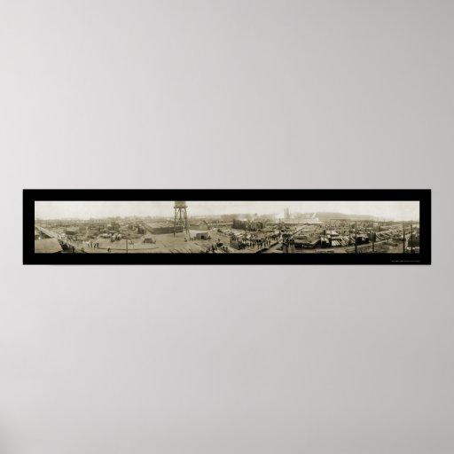 Madera de construcción foto 1911 de Fort Bragg, Ca Posters