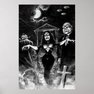 Madera de Ed del plan 9 de Vampira Posters