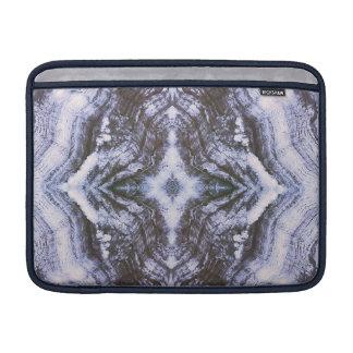 Madera de Grayson texturizada en azul Fundas MacBook