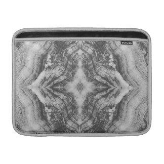 Madera de Grayson texturizada en negro Funda MacBook