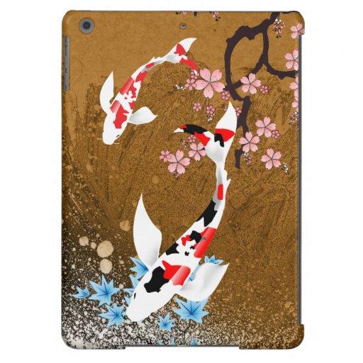 Madera de la charca de Koi: caja del aire del iPad