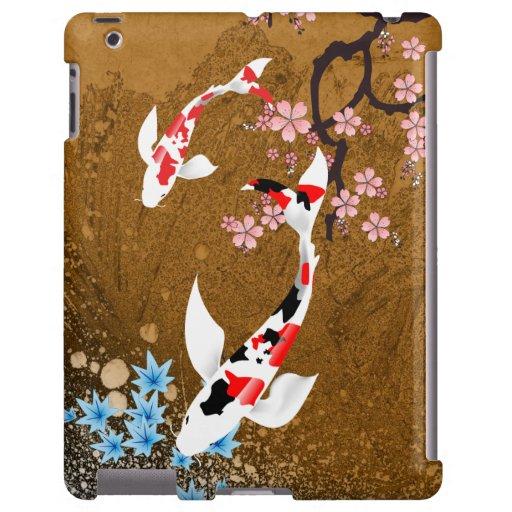 Madera de la charca de Koi: caso del iPad 2/3/4
