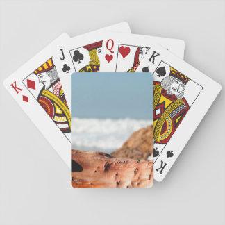 Madera de la deriva baraja de póquer