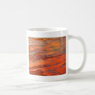 Madera de la peladura taza de café