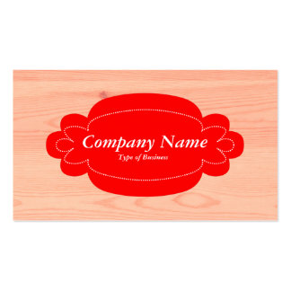 Madera decorativa del panel 01 - rojo - tarjetas de visita
