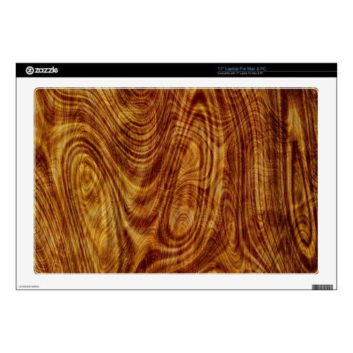Madera del árbol de la naturaleza de Burlwood del  Calcomanía Para Portátil