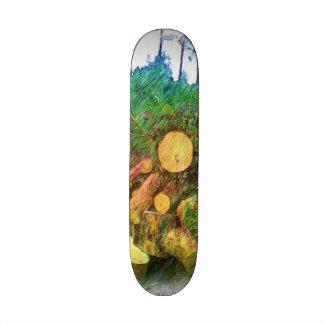 """madera del árbol patineta 7 3/8"""""""