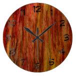 Madera del arte del vintage reloj
