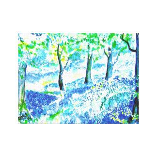 Madera del Bluebell Impresión En Lienzo