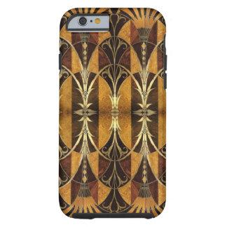 Madera del Burl del art déco Funda Resistente iPhone 6