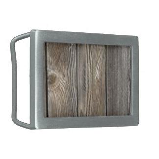 Madera del granero hebillas de cinturón rectangulares