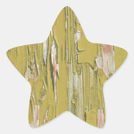 Madera del Grunge Calcomanias Forma De Estrella