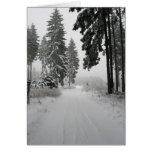 madera del invierno tarjetas