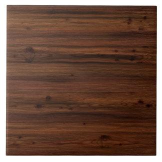 Madera del marrón oscuro azulejo cuadrado grande