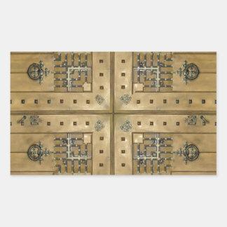 Madera del ornamento pegatina rectangular
