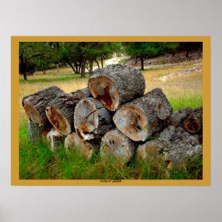 madera del país de la colina impresiones