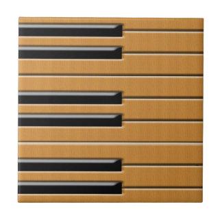 Madera del piano azulejos