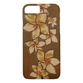 Madera del Plumeria hawaiano del Melia falsa Funda iPhone 7