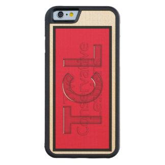 madera del TCL del iPhone 6/caja roja Funda De iPhone 6 Bumper Arce