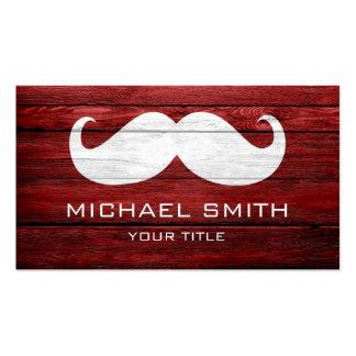 Madera del vintage del bigote tarjetas de visita