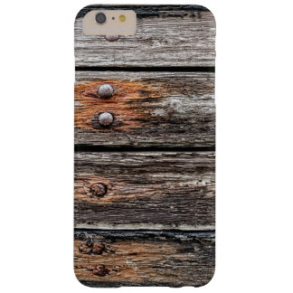 Madera del vintage funda de iPhone 6 plus barely there