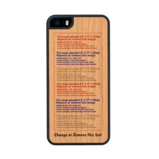 Madera delgada del teléfono del caso para el funda de madera para iPhone 5