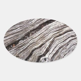 Madera dura australiana blanqueada del árbol de calcomanía de óval