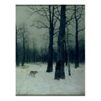 Madera en el invierno, 1885 postales