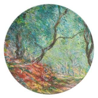Madera en el jardín de Moreno, 1884 del olivo Plato De Cena