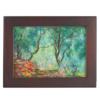 Madera en el jardín de Moreno, del olivo arte 1884 Cajas De Recuerdos