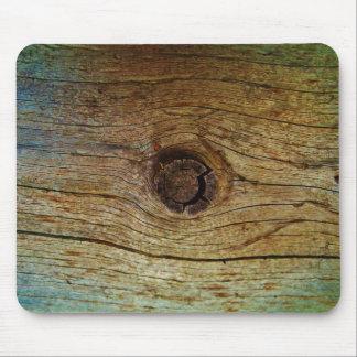 Madera entonada azul rústica del árbol alfombrilla de ratón