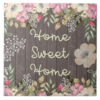 Madera floral casera dulce del hogar rústico de la azulejo cuadrado grande