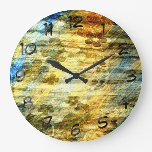 Madera floral del arte del vintage relojes