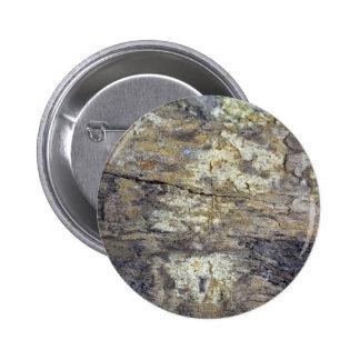 Madera fósil pin redondo 5 cm