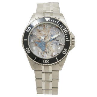 Madera fósil reloj
