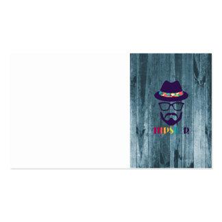 madera fresca del azul de la barba de los vidrios  tarjetas de visita