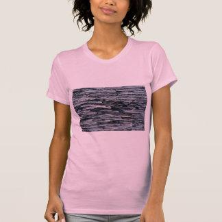 Madera gris única camisetas
