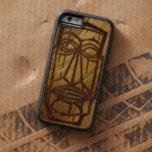 Madera hawaiana de Hapalua Tiki falsa Koa Funda Para iPhone 6 Tough Xtreme