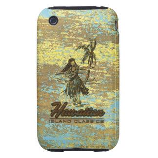Madera hawaiana de la cabaña de la resaca falsa iPhone 3 tough cárcasas