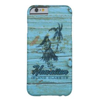 Madera hawaiana de la cabaña de la resaca falsa funda barely there iPhone 6