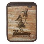 Madera hawaiana de la cabaña de la resaca falsa manga de iPad