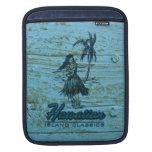 Madera hawaiana de la cabaña de la resaca falsa mangas de iPad