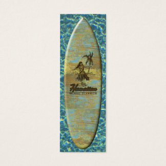 Madera hawaiana de la cabaña de la resaca falsa tarjetas de visita mini