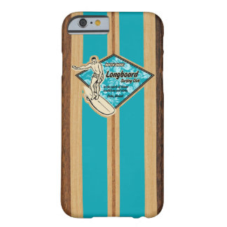 Madera hawaiana de la tabla hawaiana de Waimea Funda De iPhone 6 Barely There