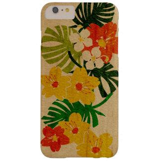Madera hawaiana del jardín de Limahuli falsa Funda De iPhone 6 Plus Barely There