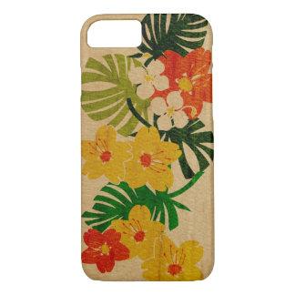 Madera hawaiana del jardín de Limahuli falsa Funda iPhone 7