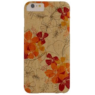 Madera hawaiana del jardín de medianoche falsa funda para iPhone 6 plus barely there