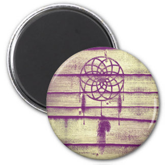 Madera ideal de la púrpura del colector imán redondo 5 cm