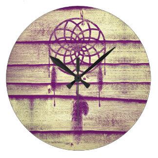 Madera ideal de la púrpura del colector relojes de pared